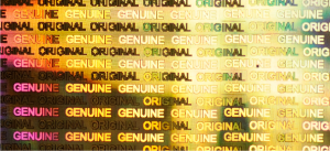 Label Diffraction Foil Genuine