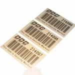 Sequential Barcode Silver Polyester Labels